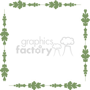green floral frame swirls boutique design border 15 clipart. Royalty-free image # 392509