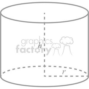 geometry cylinder math clip art graphics images clipart. Royalty-free image # 392539