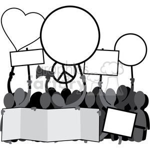protesters clipart. Commercial use image # 392549