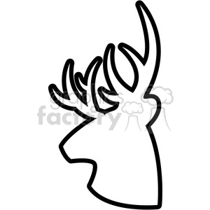 side outline buck deer illustration logo vector graphic