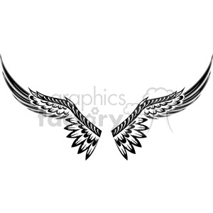 vinyl ready vector wing tattoo design 004 clipart. Commercial use image # 392712