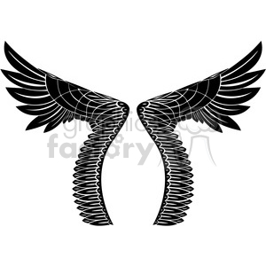 vinyl ready vector wing tattoo design 023 clipart. Commercial use image # 392722