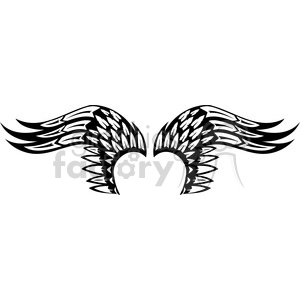 vinyl ready vector wing tattoo design 042 clipart. Commercial use image # 392732