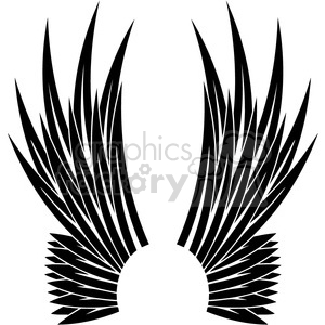 wing wings tattoo design black+white vinyl+ready