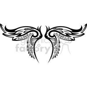 feather wing art clipart. Royalty-free image # 392762