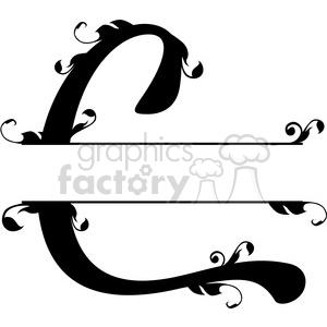 split regal c monogram vector design clipart. Royalty-free image # 392838