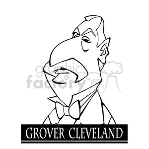 grover cleveland black white clipart. Commercial use image # 392912