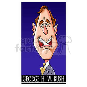 celebrity famous cartoon editorial-only people funny caricature george+h+w+bush president 41st
