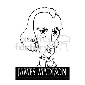 celebrity famous cartoon editorial-only people funny caricature james+madison president 4th