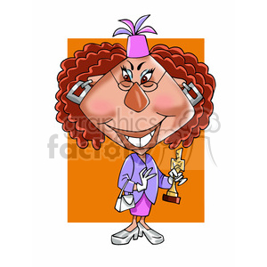 whoopi goldberg color clipart. Royalty-free image # 393050