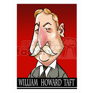 william howard taft color clipart. Royalty-free image # 393060