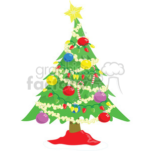 cartoon xmas tree clipart. Commercial use image # 393415