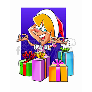 kid happy on christmas clipart. Commercial use image # 393433