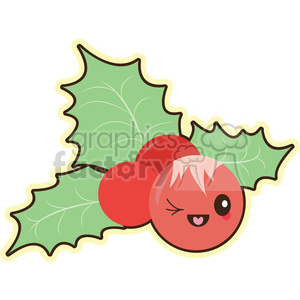 cartoon cute character funnykiss christmas