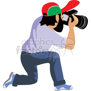 male photographer illustration photos of flowers clipart. Royalty-free image # 393644