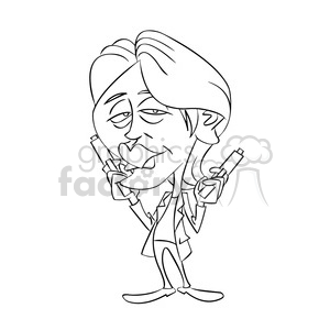 vector drawing of mads mikkelsen cartoon character clipart. Royalty-free image # 393714