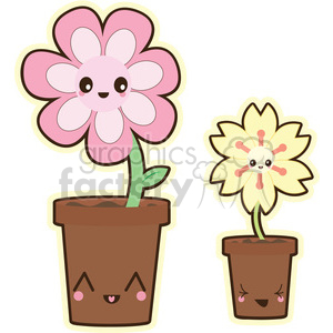cartoon character characters funny cute flower flowers pot