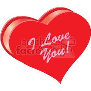 heart i love you vector clipart. Royalty-free image # 393818