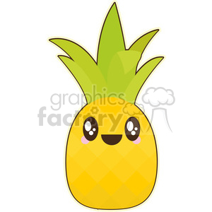 cartoon funny character cute pineapple pineapples fruit