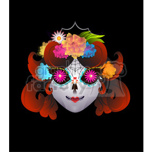 Day of the Dead 1 cartoon character illustration clipart. Commercial use image # 394114