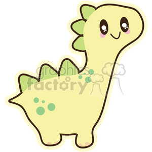 yellow baby dinosaur 3 cartoon character illustration clipart. Royalty-free image # 394124