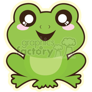 Frog cartoon character illustration clipart. Royalty-free image # 394144
