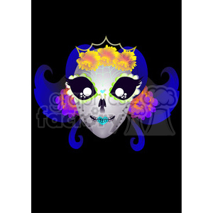 Day of the Dead 8 cartoon character illustration clipart. Royalty-free image # 394164