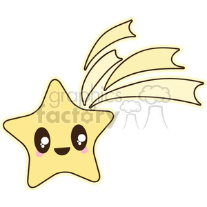Shooting Star cartoon character illustration clipart. Royalty-free image # 394184