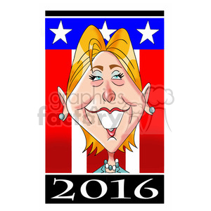 hillary 2016 sign cartoon clipart. Royalty-free image # 394244