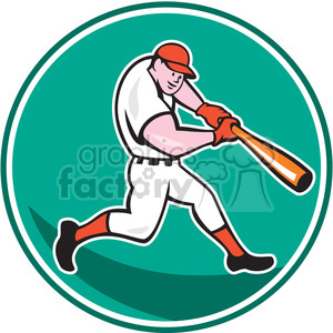 baseball hitter bat side low ISO CIRC clipart. Royalty-free image # 394355