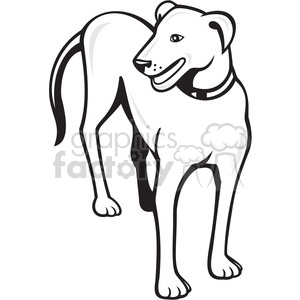 dog standing side front 001 clipart. Royalty-free image # 394375