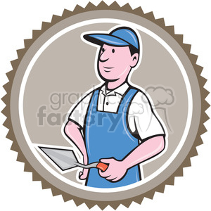 bricklayer CIRC clipart. Royalty-free image # 394385
