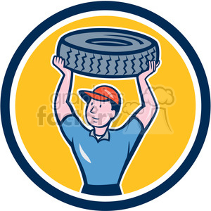 mechanical carry tyre CIRC clipart. Commercial use image # 394395