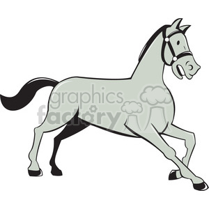 HORSE trotting side ISO clipart. Royalty-free image # 394495