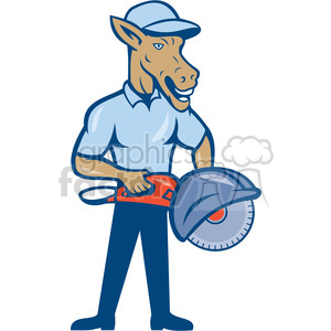 donkey concrete sawing drilling worker ISO clipart. Commercial use image # 394525