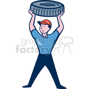 mechanical carry tyre ISO clipart. Commercial use image # 394535