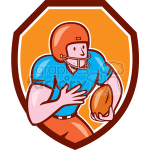 american football receiver run side OL SHIELD clipart. Royalty-free image # 394565
