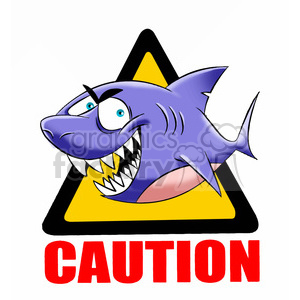 caution sharks in the area clipart. Commercial use image # 394705
