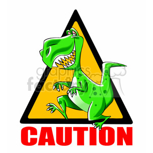 caution t rex crossing clipart. Commercial use image # 394795