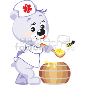 teddy bear doctor with honey clipart. Royalty-free image # 370183