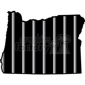 prison oregon jail bars tattoo design clipart. Commercial use image # 394801