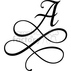 monogrammed a clipart. Commercial use image # 394811