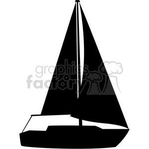 sailboat silhouette open sails clipart. Commercial use image # 394841