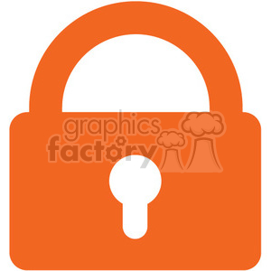 closed security lock clipart. Royalty-free image # 394857