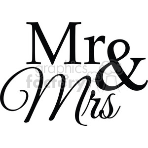 mr and mrs clipart. Royalty-free image # 394862