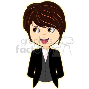 Groom cartoon character vector image clipart. Royalty-free image # 394888