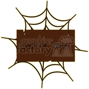Halloween Signboard cartoon character vector image clipart. Royalty-free image # 394948