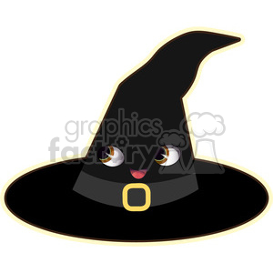 Halloween Witch Hat cartoon character vector image clipart. Royalty-free image # 394978