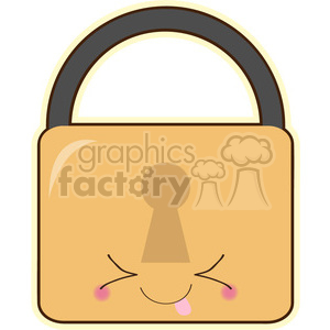 Padlock cartoon character vector clip art image clipart. Commercial use image # 395024