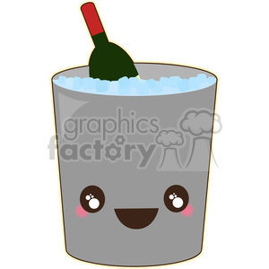 Ice Bucket cartoon character vector clip art image clipart. Royalty-free image # 395044